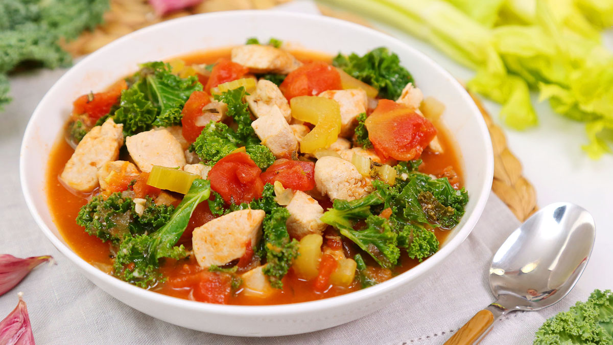 Rustic Chicken Kale Soup