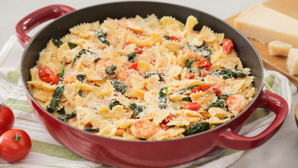 Rank 3 in Best Shrimp Farafella Pasta recipes with calories and ingredients list